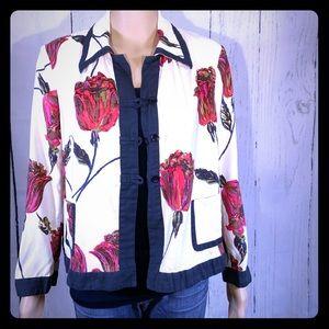 🎉HP🎉 DRIES VAN NOTEN Button Down Jacket Floral